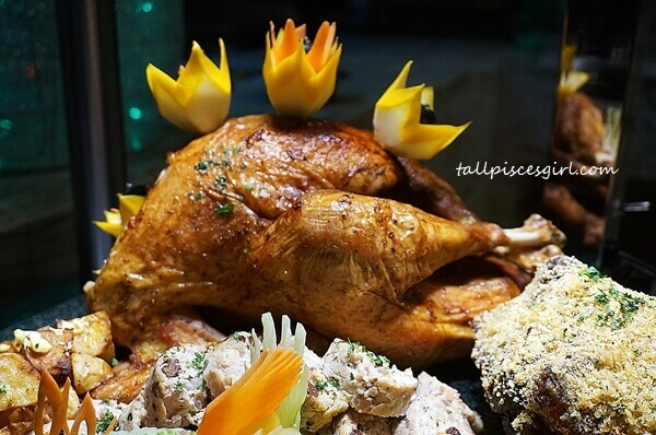Honey and Herb Roasted Whole Turkey with Traditional Chestnut Stuffing