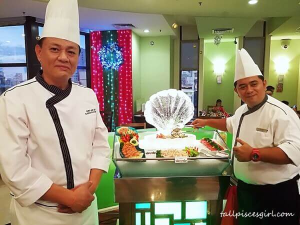 Chef Ian Lim and his comrade