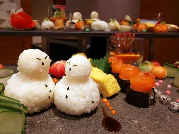 Fresh Japanese sashimi and sushi!! They look good too!