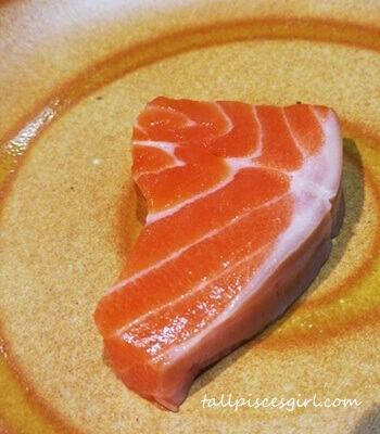 Thick piece of mouthwatering salmon!