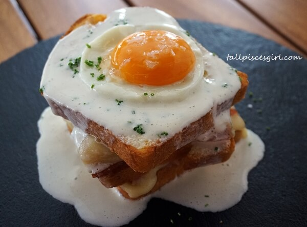 """Croque Madame"" Baked Ham and Cheese Sandwich"