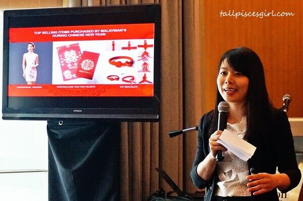 Cici Cai, Business Development Manager of Tmall World South East Asia reveals what Malaysians buy most during Chinese New Year