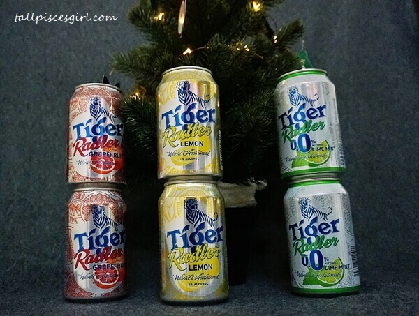 Tiger Radler Grapefruit, Tiger Radler Lemon, Tiger Radler Lime Mint
