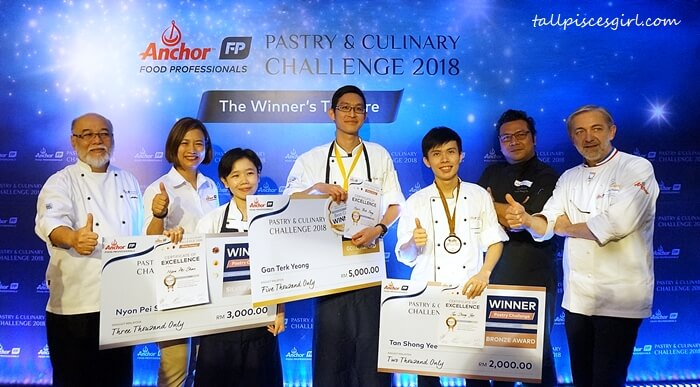 Ms. Linda Tan, panel judges, and winners of AFP Pastry & Culinary Challenge 2018 Best Cake Hotel Channel