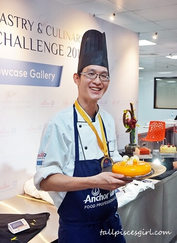Gold Winner for Anchor Food Professionals Pastry & Culinary Challenge 2018 Best Cake (Hotel Channel) - Gan Terk Yeong from Sofitel Kuala Lumpur Damansara