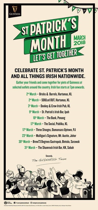 Guinness St. Patrick's Events List