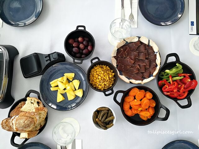 Various dishes to pair during European Cheese Raclette