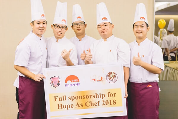 Some of the first batch of Lee Kum Kee Hope as Chef Programme's scholars from KUSU celebrating their achievement together