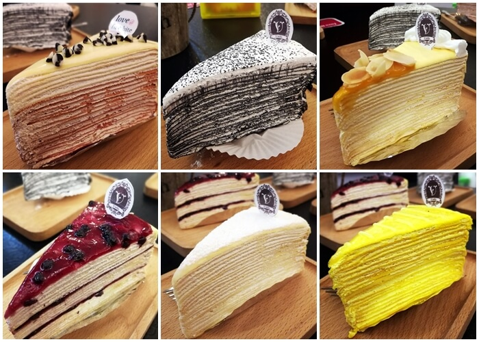 Vanilla Mille Crepe Cafe Cakes Selection