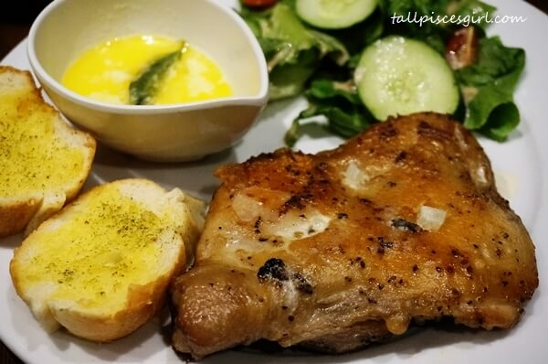 Main course: Grilled Chicken with Buttermilk / Black Pepper