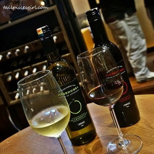 Jimboomba Chardonnay and Jimboomba Shiraz wine