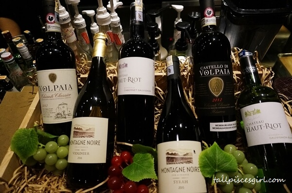 Some of the wine selections at MANDALA, Publika