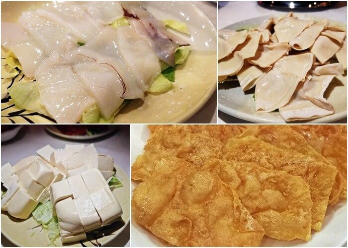 Assorted Hot Pot Ingredients (Squid, Fu Kwei Abalone, Tofu, Bean Curd)