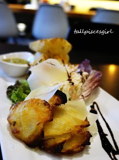 Thin Parmesan U.S. Potato stacks from Spud Stacks @ Piccolino
