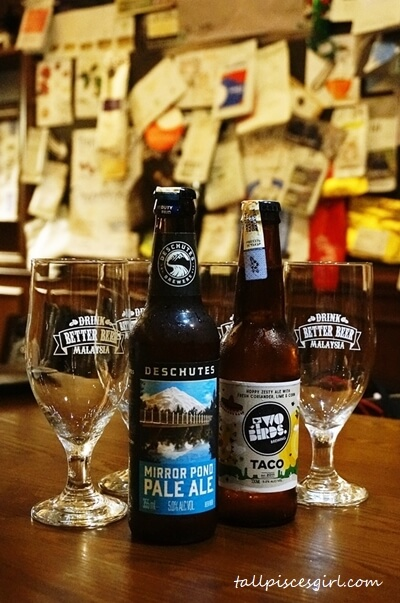 Craft beer pairing - We paired the Seared Duck Sandwich with Two Birds Taco craft beer and Brits Fish & Chips with Deschutes Mirror Pond Pale Ale
