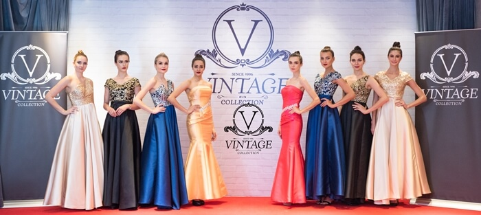 Evening Gown showcase by models at Vintage Collection International