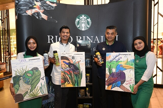 Mr. Sydney Quays & Rico Rinaldi with Rico RInaldi X Starbucks merchandises