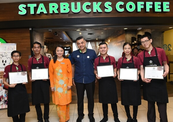 Starbucks Signing Store also marked another milestone as all the Deaf partners are now 100% certified Coffee Masters