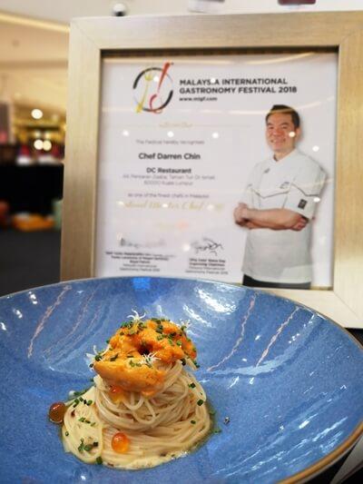 Takao Somen: Bafun Uni: Truffle Celeriac by Chef Darren Chin, DC Restaurant