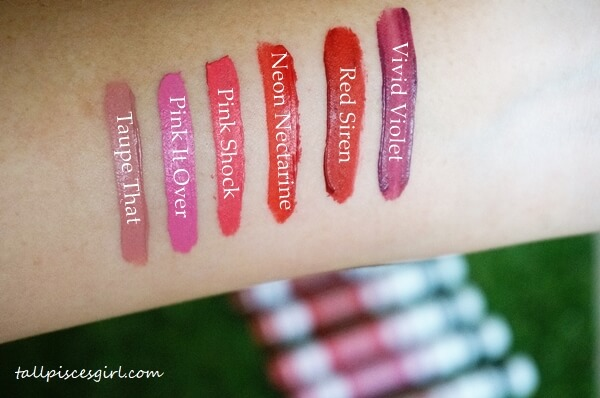 Mary Kay At Play Matte Liquid Lip Color Swatches