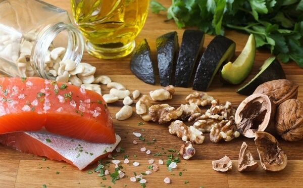 Food with Healthy Fats