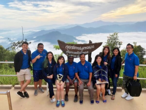 Group photo with the awesome people from Tourism Authority of Thailand and travel mates @ I-yerweng, Betong Thailand