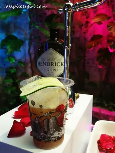 Hendrick's gin infused with Rose and Cucumber