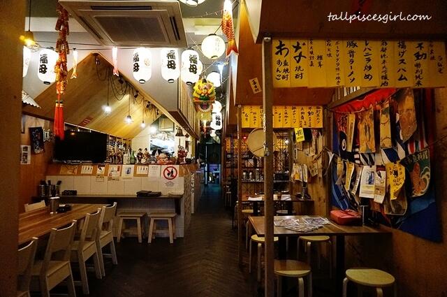 Cozy interior of Butaya Izakaya