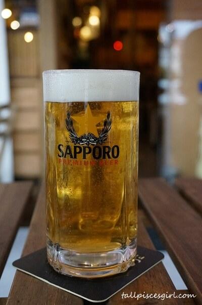 Sapporo beer @ Butaya Izakaya