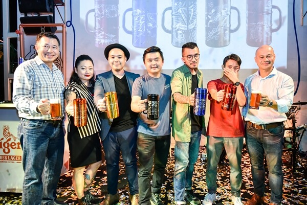 Heineken Malaysia Bhd presents the artists of the limited edition The Great Brew Fest designer mugs Collectors Item
