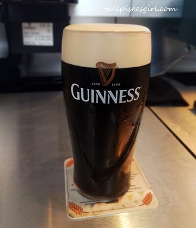 The pint of Guinness I poured my own