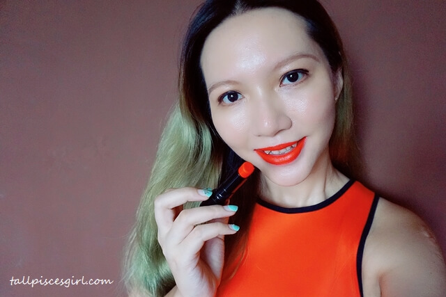 tallpiscesgirl X Swanicoco Show The Velvet Lipstick in Juliet Red