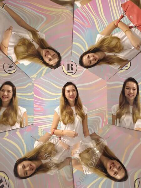 Kaleidoscope photo wall