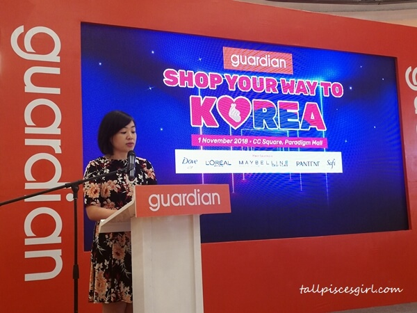 Ms Wong Vai Chi, Head of Marketing and Promotions of Guardian Malaysia