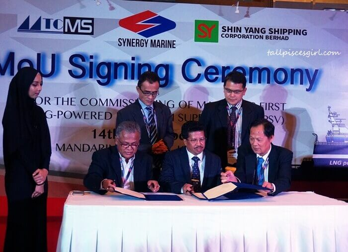 MOU Signing Ceremony for Malaysia's first LNG-Powered Vessel Shipbuilding
