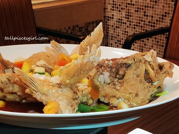 Fried Red Snapper with Sweet Sour Pineapple Sauce