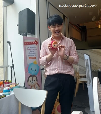 Mr. Pongwiwat Theekahkhirikul briefing us on Disney Tsum Tsum X Cathy Doll makeup collection
