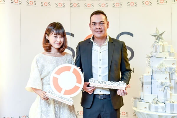 SOS UV Porcelain+ Launch - Xiao Yu and Mr. Wilson Goh, Managing Director of SOS Skincare