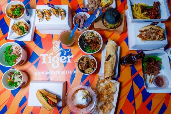 Unconventional street food dishes at the Tiger Uncage Street Food Festival 2018