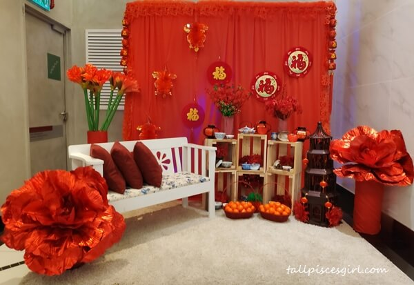 Beautifully decorated to welcome Chinese New Year
