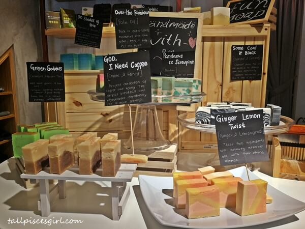 Handmade soaps @ The Rub Bar