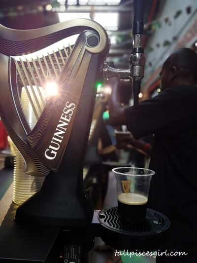 Fresh GUINNESS stout from the tap