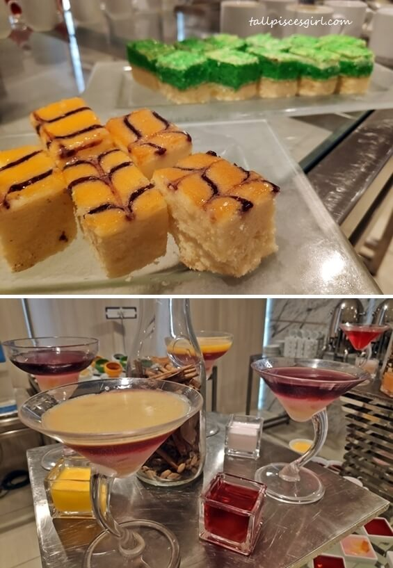 Cakes and desserts