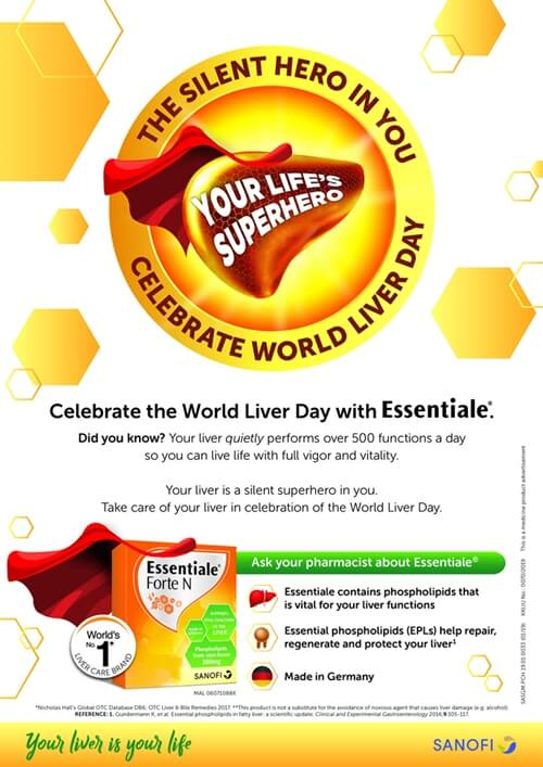"""Essentiale Celebrates World Liver Day with """"The Silent Hero in You"""" Campaign"""