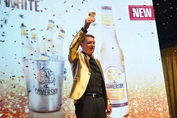 Managing Director of Carlsberg Malaysia Lars Lehmann unveiled the new Somersby Sparkling White
