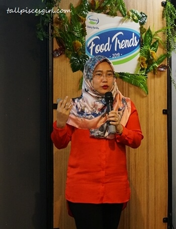 Megawati Suzari, New Product Development, Scientific and Regulatory Affairs Director at Fonterra Brands Malaysia speaking on consumer trend drivers in 2019