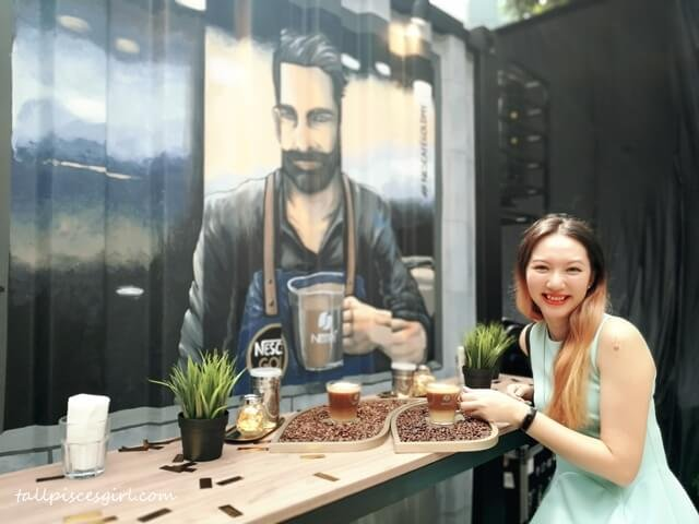 tallpiscesgirl X NESCAFE GOLD experiential container cafe