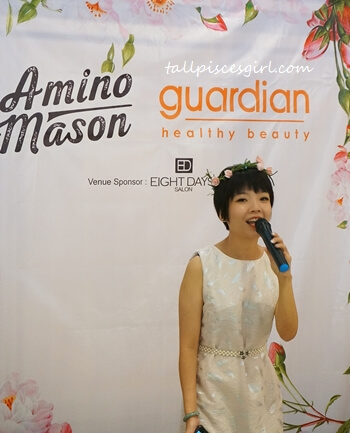 Joyce Lee, Marketing Director of Amino Mason Malaysia
