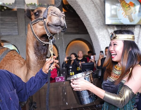 Ms. Candice served BARNY his welcome drink - The Hump,to show gratitude for him traveling all the way to the launch at The BARN Sunway Pyramid
