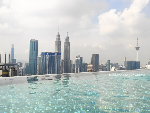 Sky Pool overlooking KL Tower and KLCC